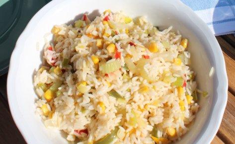 Ryż z warzywami (kukurydza, papryka, fasolka)