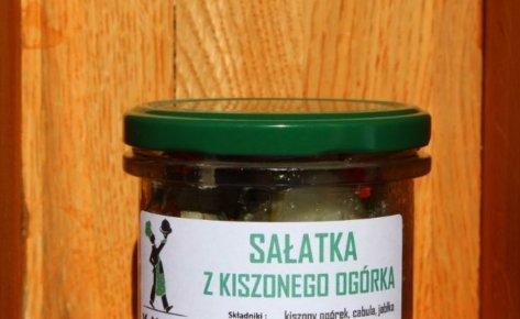 Sałatka z kiszonego ogórka