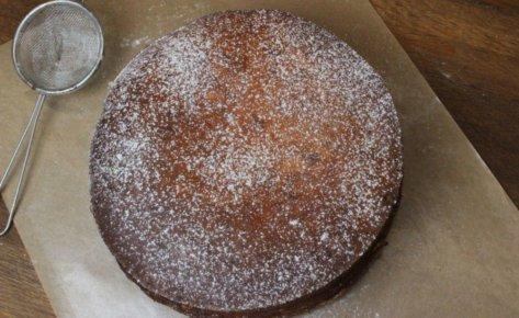 Sernik maślany na czekoladowym spodzie