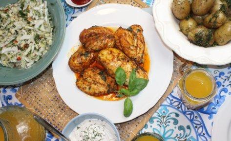 Pieczona pierś z kurczaka – saute